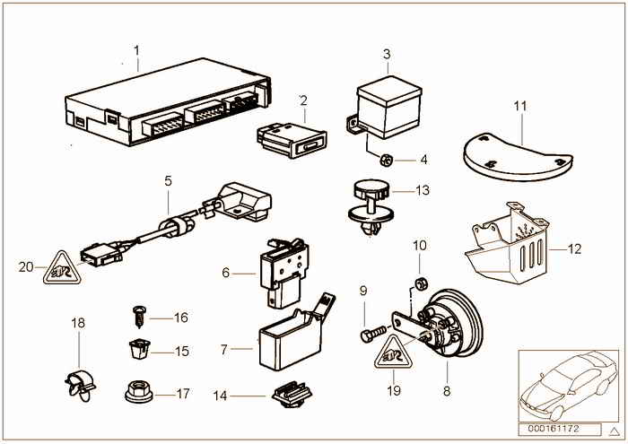 Alarm systems BMW 323i M52 E36 Convertible, USA