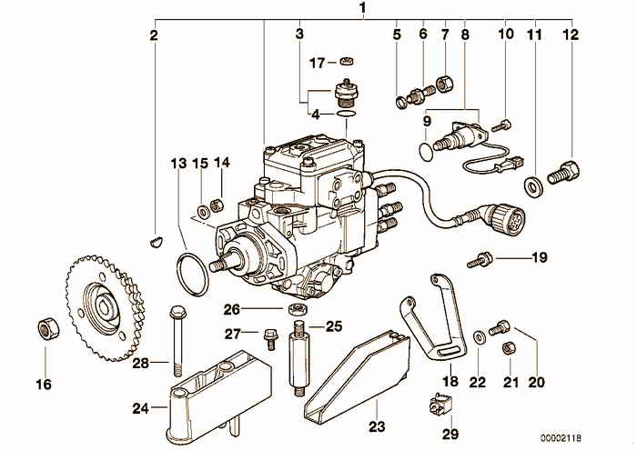 Injection pump diesel engine BMW 325tds M51 E36 Touring, Europe