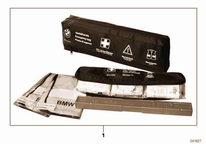Emergency bag BMW 318ti M42 E36 Compact, Europe