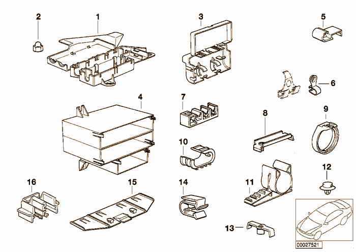 Various wiring connectors BMW 318i M43 E36 Convertible, Europe