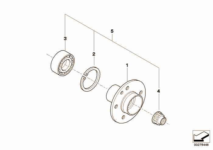 Side shaft/wheel bearings BMW 318is M42 E36 Coupe, Europe