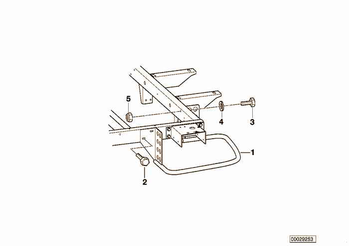 Trailer, individual parts, ram guard BMW 318i M43 E36 Convertible, Europe