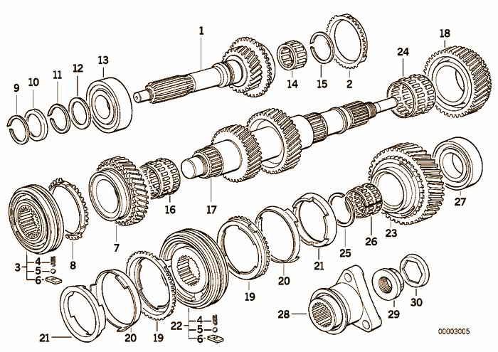 S5D...G drive shaft/output shaft BMW 325i M50 E36 Convertible, USA