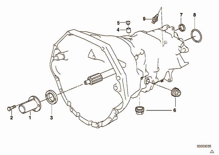S6S 420G crankcase and additional elements BMW M3 3.2 S50 E36 Coupe, Europe
