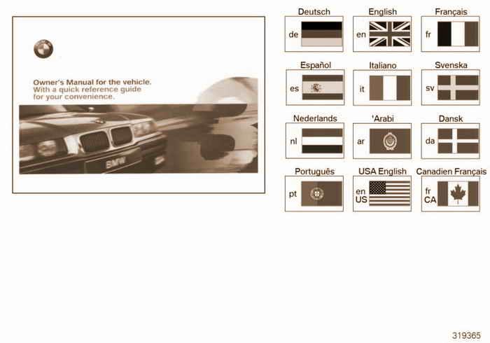 Owners handbook E36 BMW M3 3.2 S52 E36 Coupe, USA
