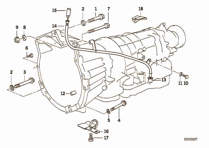 Gearbox mounting parts BMW 318is M42 E36 Sedan, Europe