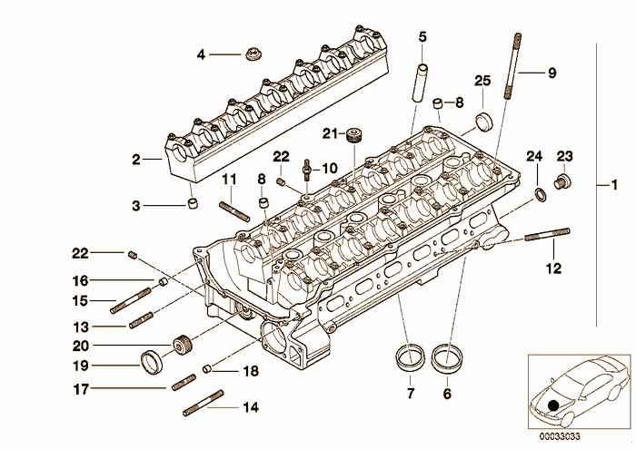 Cylinder Head BMW 325i M50 E36 Convertible, USA