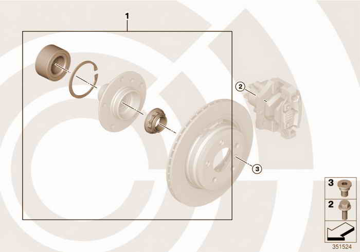 Kit, wheel bearing, rear / Value Line BMW 328i M52 E36 Touring, Europe