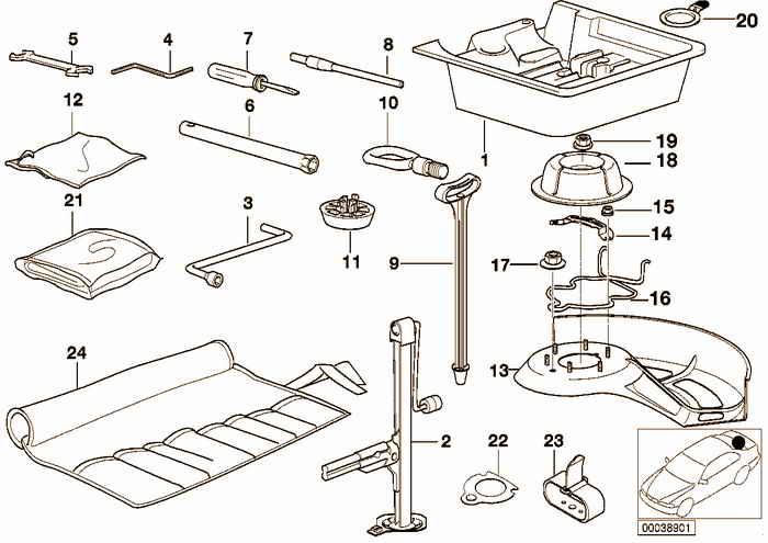 Car tool/Tool box BMW 316i 1.9 M43 E36 Compact, Europe