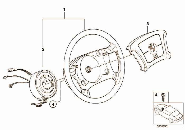 Steering wheel airbag BMW 328i M52 E36 Coupe, USA