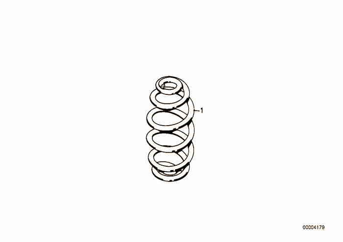 Set coil springs BMW 318is M42 E36 Coupe, Europe