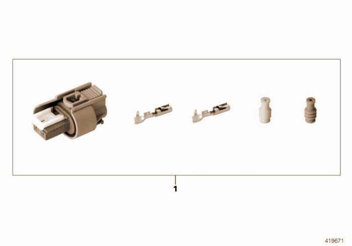 Repair kit for socket housing, 2-pin BMW 323i M52 E36 Convertible, Europe