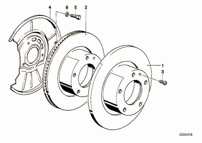 Front brake / brake disc BMW 328i M52 E36 Convertible, Europe