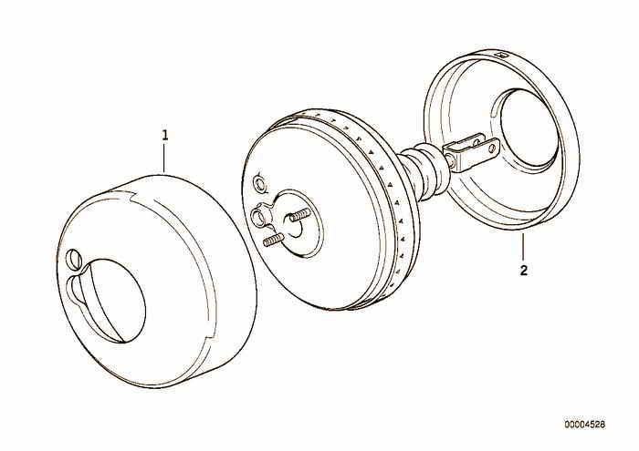 Power brake unit sound insulation BMW 325i M50 E36 Convertible, Europe