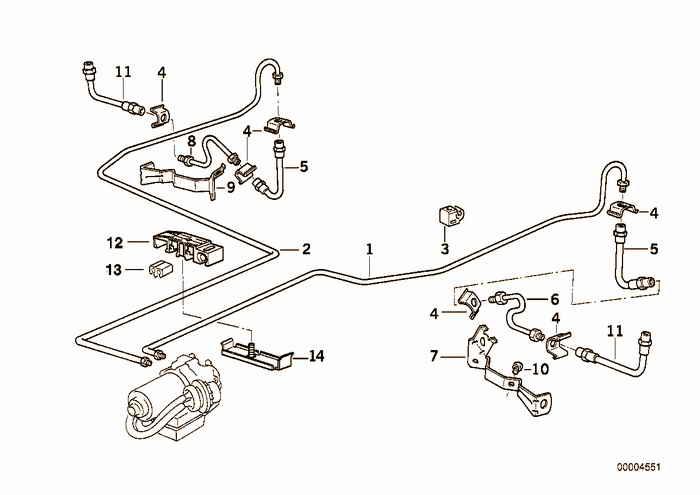 Brake pipe rear abs/asc+t BMW 320i M52 E36 Convertible, Europe