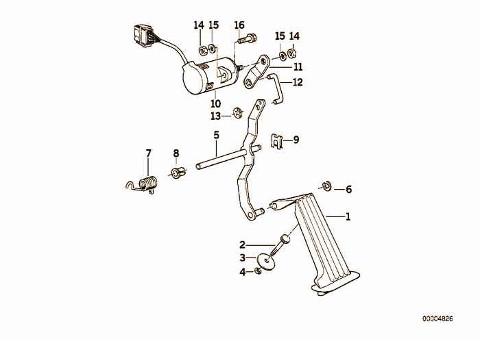 Pedals-supporting bracket BMW 318tds M41 E36 Sedan, Europe