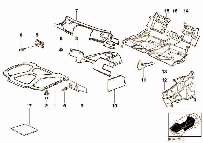 noise insulation BMW 318i M42 E36 Convertible, USA