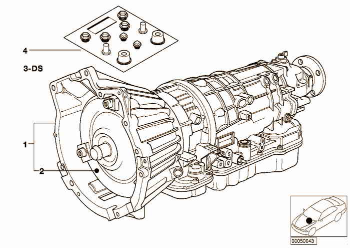 Automatic transmission A4S270/310R BMW 318is M44 E36 Coupe, USA