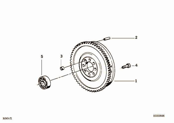 Flywheel / Twin Mass Flywheel BMW 318i M43 E36 Convertible, Europe