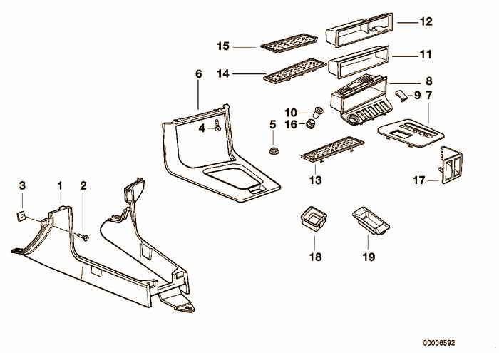 Storing partition BMW 318i M42 E36 Convertible, USA