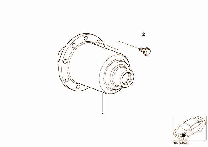 Limited slip differential assembly BMW 318is M42 E36 Coupe, Europe