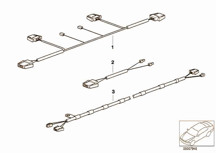 Wiring harnesses convertible top/hard top BMW 323i M52 E36 Convertible, Europe