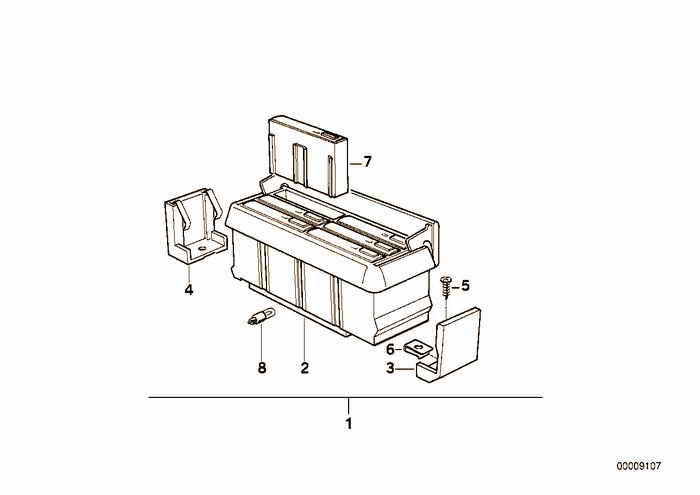 Parts f center console cassette box BMW 325i M50 E36 Convertible, USA