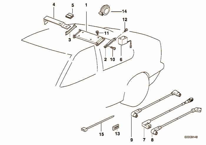 Single components cd-6 changer BMW 323i M52 E36 Convertible, USA