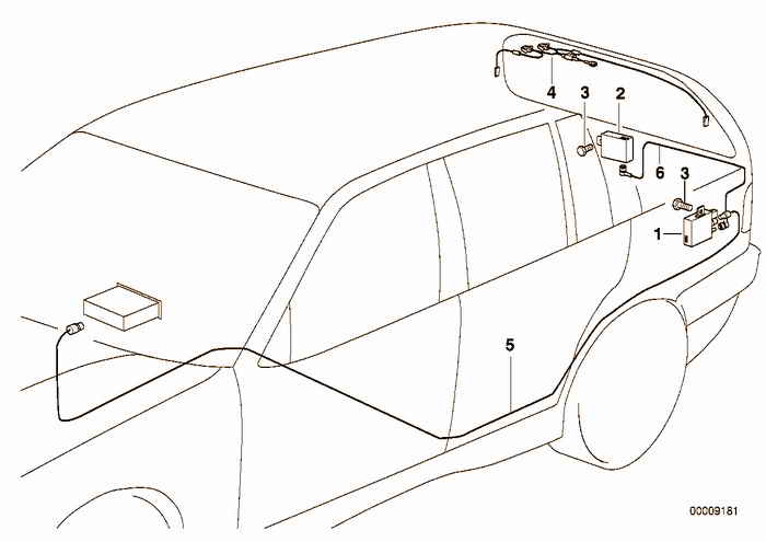 Details Of The Antenna On The Fenderrear Window Bmw E36 320i M52