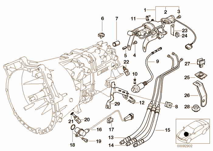 Accessory gearbox SMG BMW M3 3.2 S50 E36 Coupe, Europe