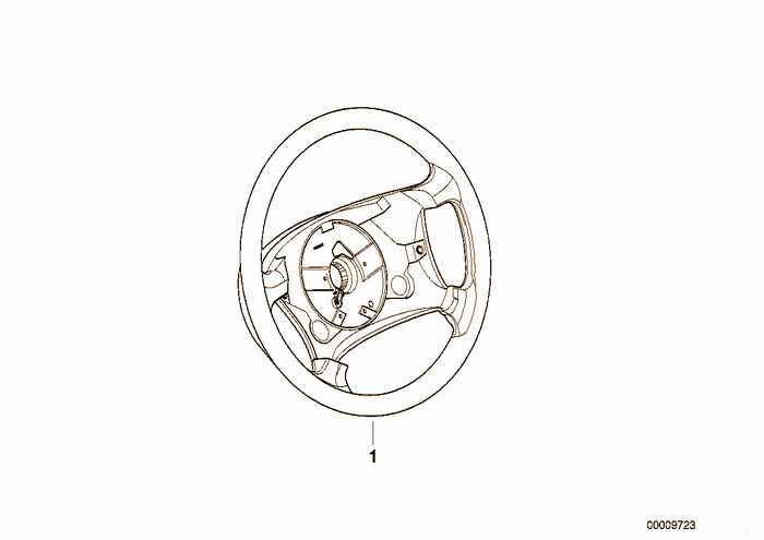 Leather-covered steering wheel rim III BMW 316i M43 E36 Sedan, Europe