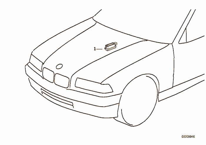 Engine compartment light BMW 318i M43 E36 Convertible, Europe