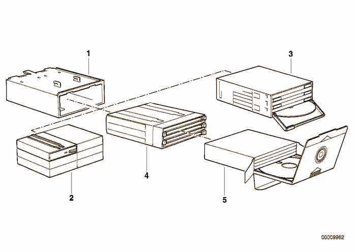 Cassette box BMW 316i M43 E36 Sedan, Europe
