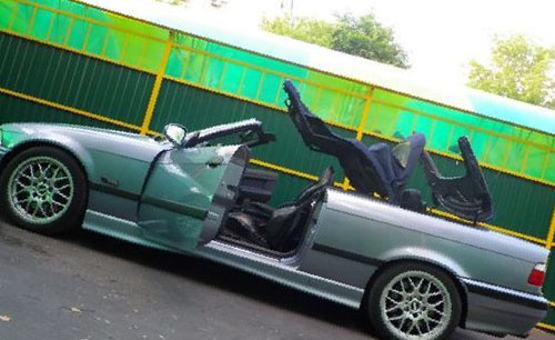 BMW 3 Series Convertible Cutting Roof Off The Car General